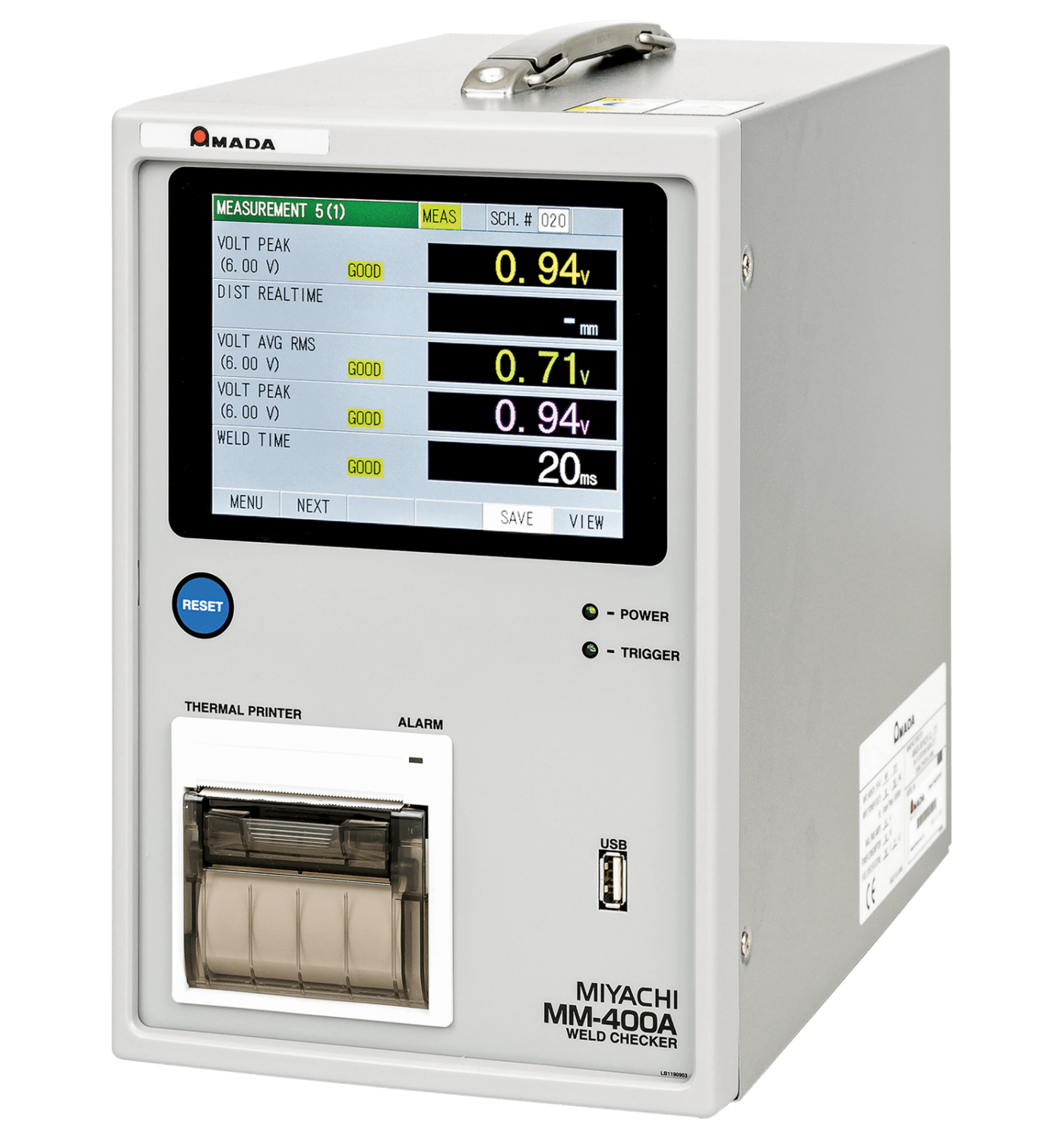MM-400A Desktop Resistance Weld Monitor