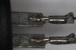 Sensor - electronic component, Ni, Cu, nickel, copper, spot welding, HF27, 80A/EZ