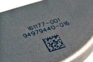 laser marking titanium pacemaker case - medical, laser marking, titanium, pacemaker case, 2D, lmf20
