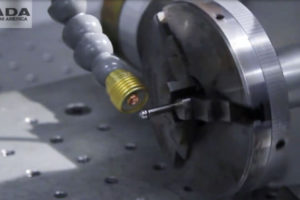 Laser Welding of an Armature Needle - automotive, high carbon steel, armature needle, lf250