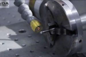 Laser Welding of an Armature Needle - automotive, high carbon steel, armature needle, lf250