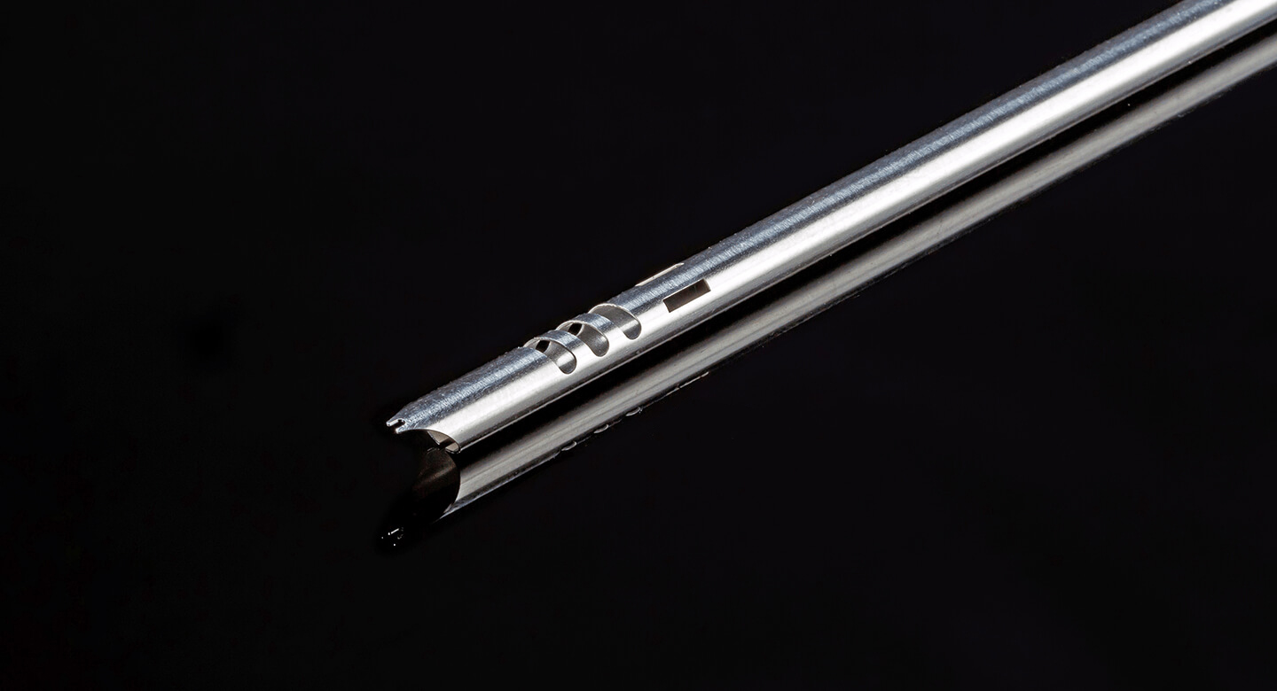 medical industry, medical tools, biopsy tool, laser cutting