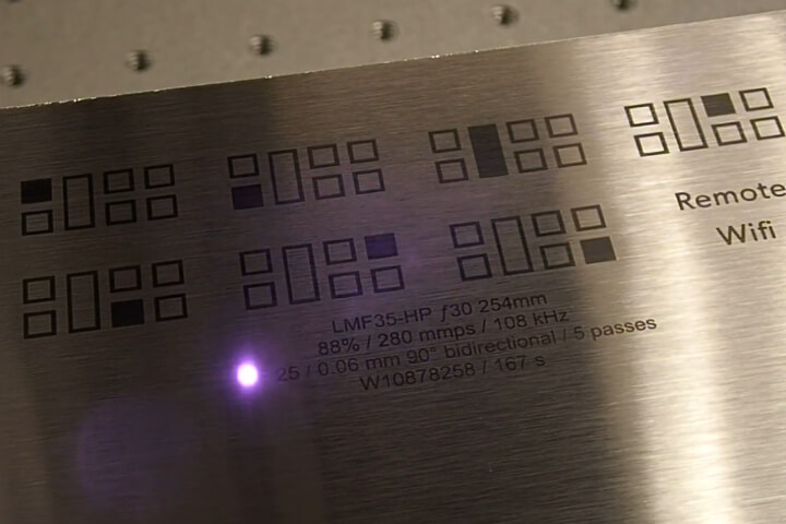 Stove Top - Fiber Laser Marking - Annealing - Stainless Steel - Laser Marking, LMF50, Appliance Marking, Stainless Stee,l Stove Top Annealing