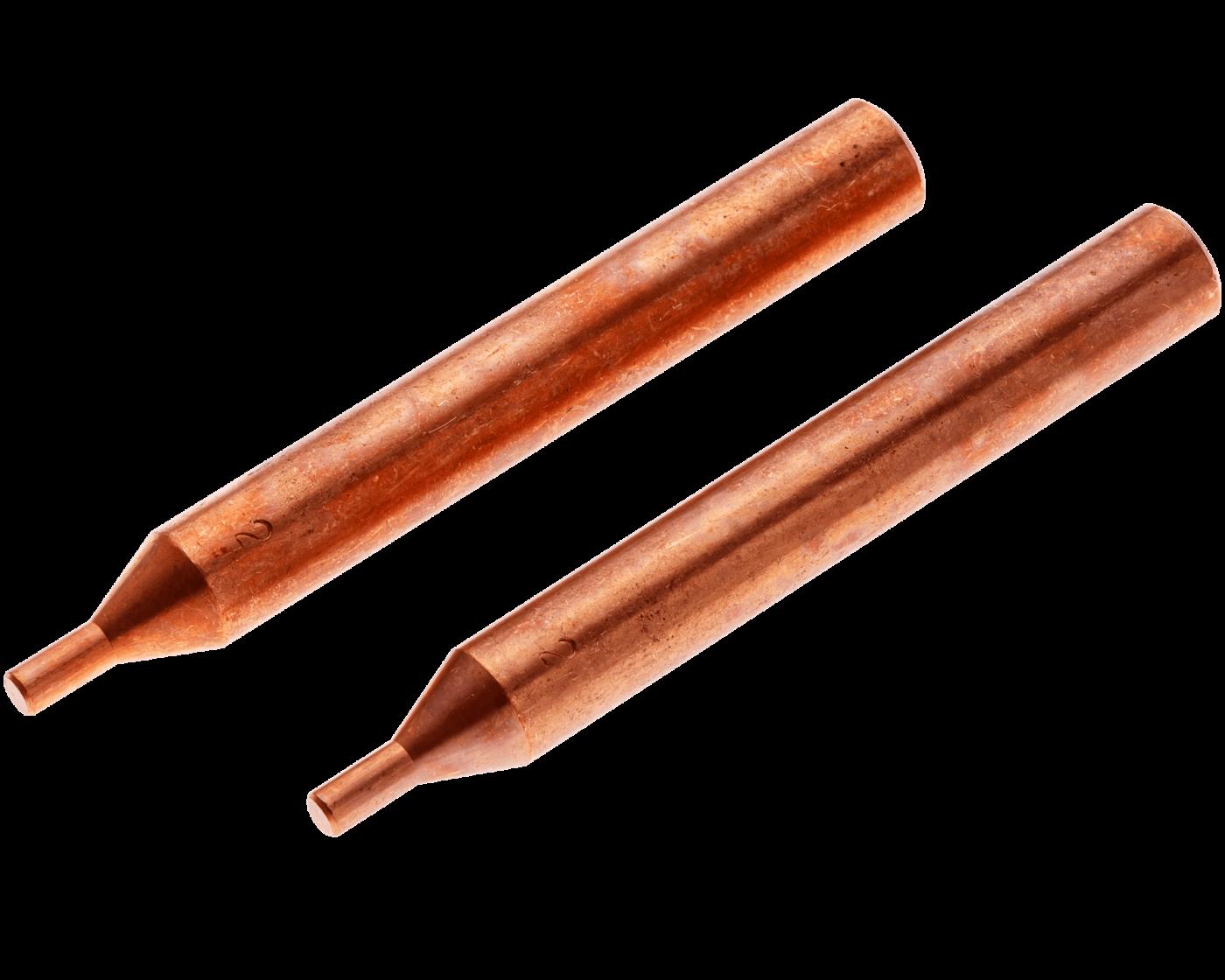 """ES0803 Straight Electrode Set <br> 1/4"""" OD, 3/32"""" Tip OD <br> RWMA 3"""