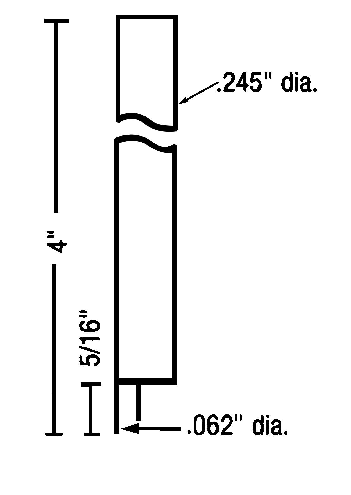 """ES0850ES Eccentric Electrode Set<br>.245"""" OD, .062"""" Tip OD<br>GLIDCOP"""