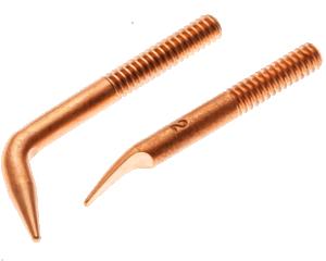 ESG0402 Tweezer Electrode Set <br>Strain Gauge Style, 6-32 Thread<br>RWMA 2