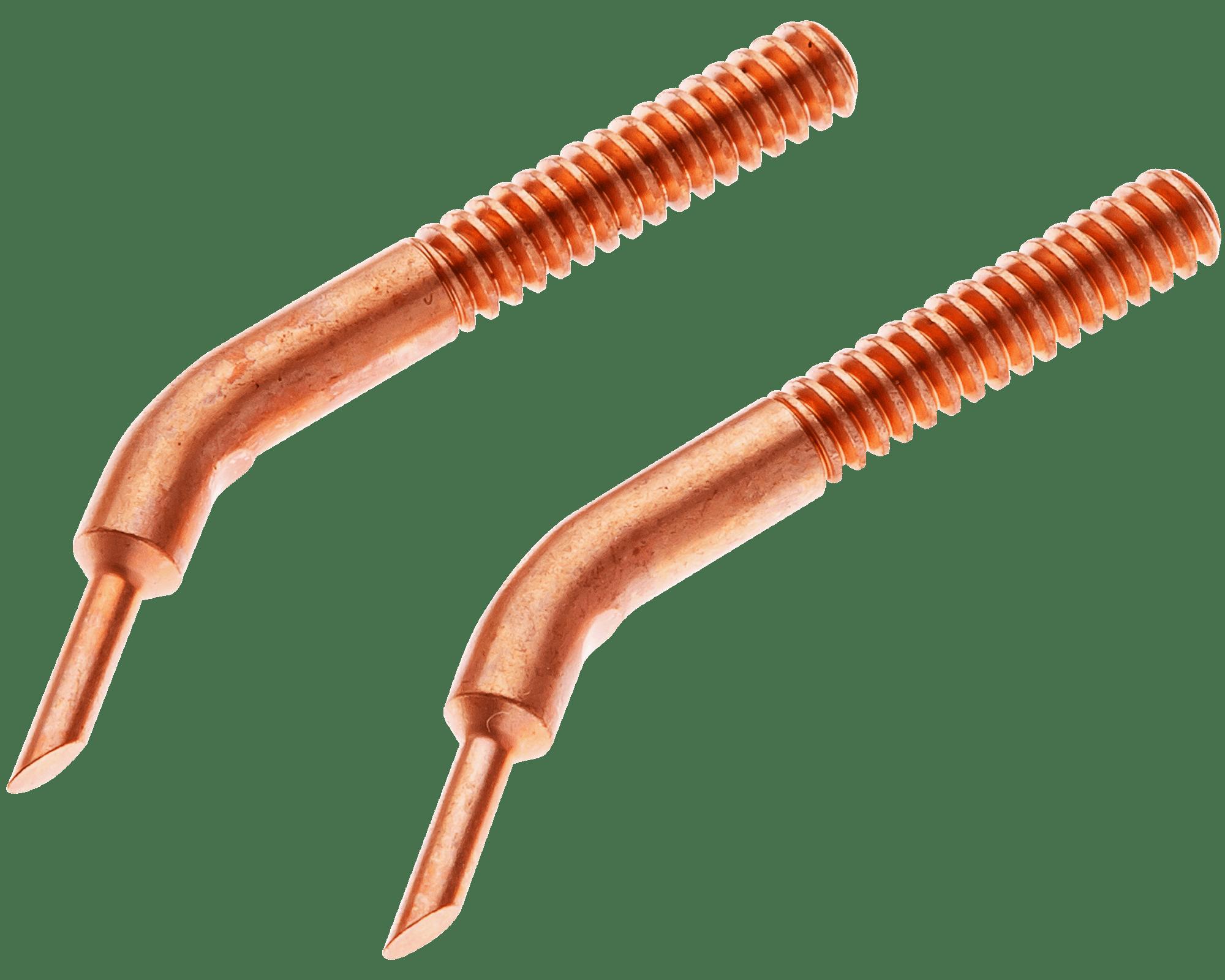 """ET0402 Tweezer Electrode Set<br> 6-32 Thread, 1/16"""" Tip OD <br> RWMA 2"""