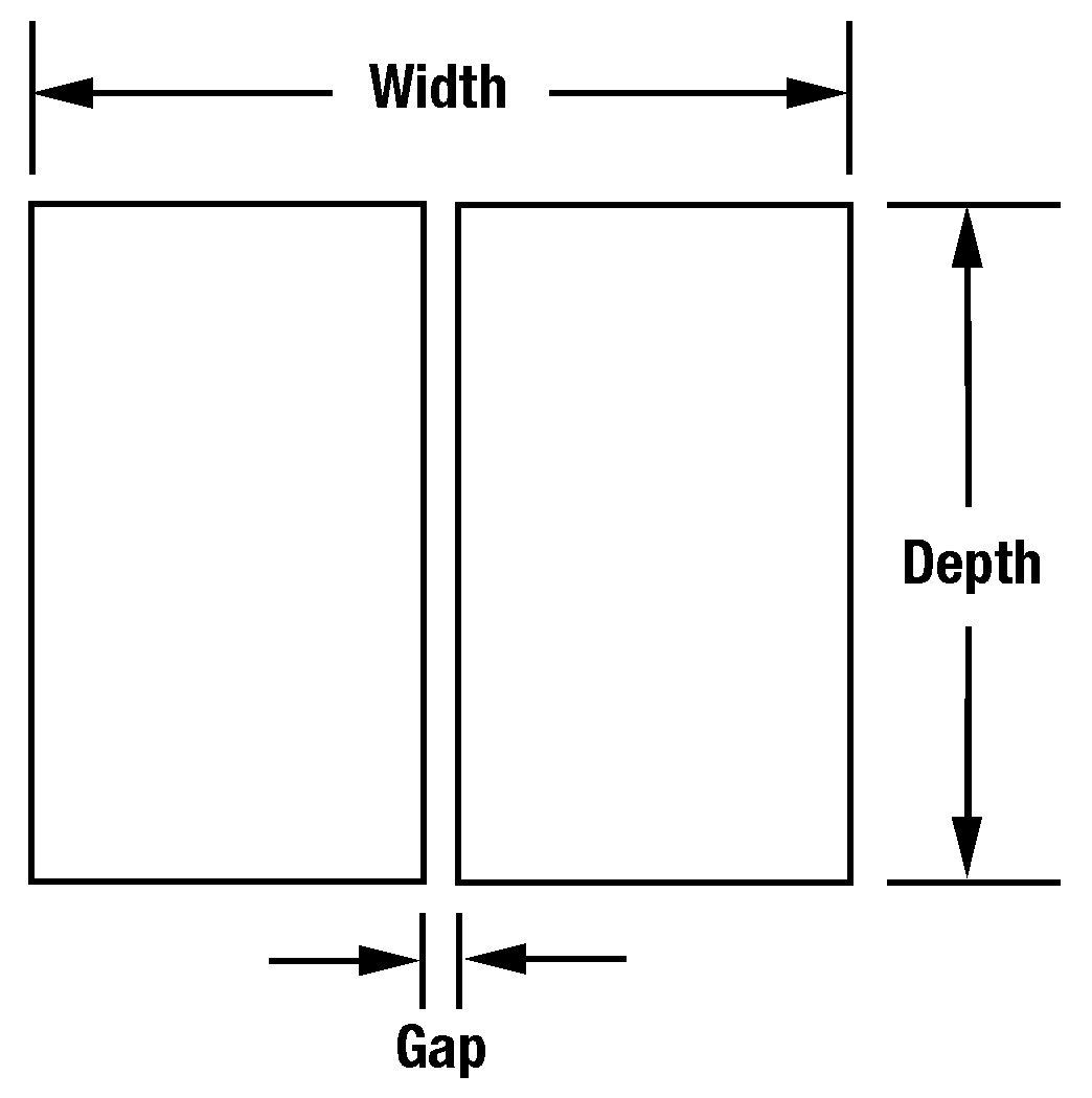 """UTM112L Unitip Electrode <br> .010"""" x .010"""" x .025"""" (W x D x L) <br> 002"""" Gap, Max Force 33 oz"""