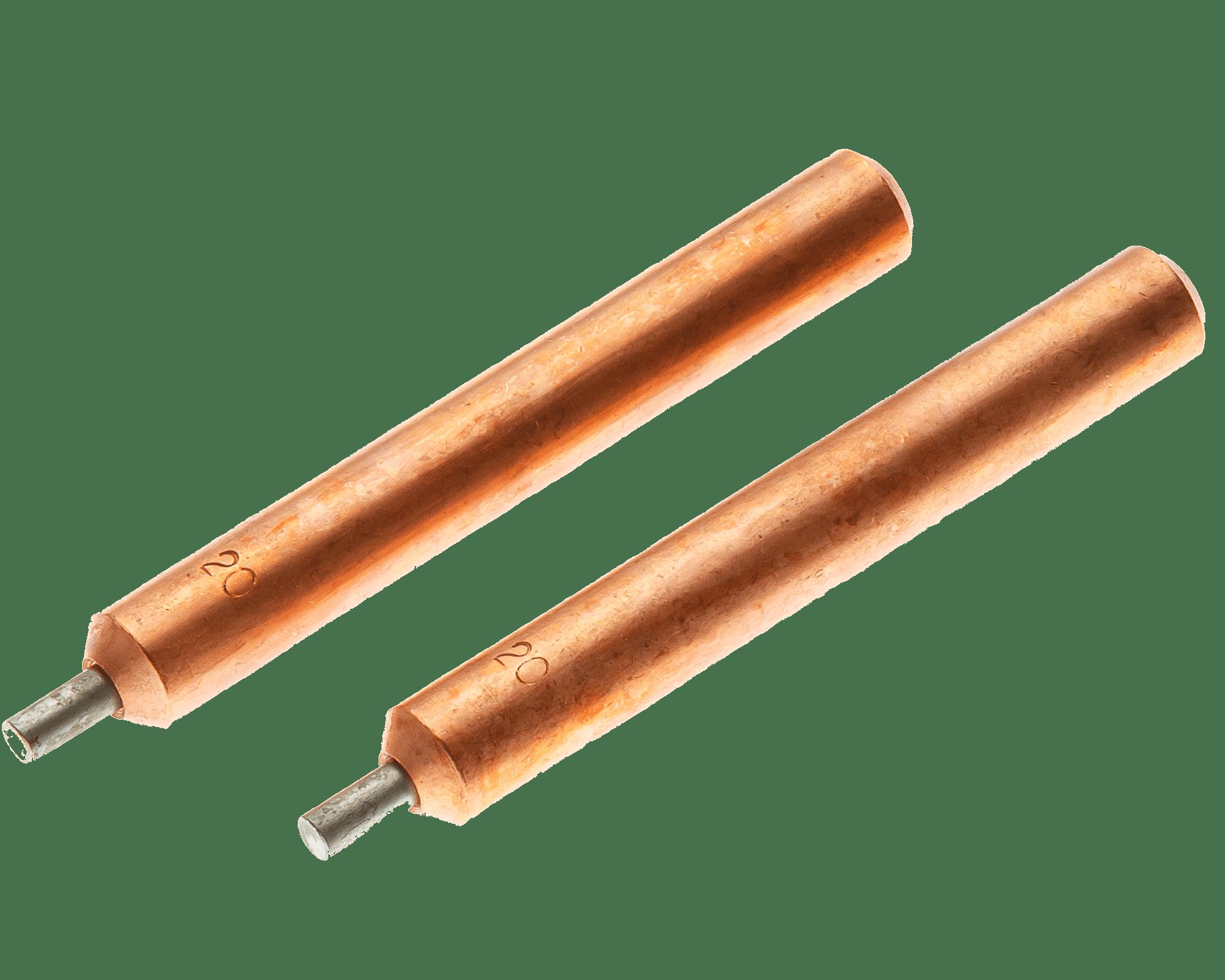 """ES0820 Straight Electrode Set <br> 1/4"""" OD, 3/32"""" Tip OD <br> Molybdenum Insert"""