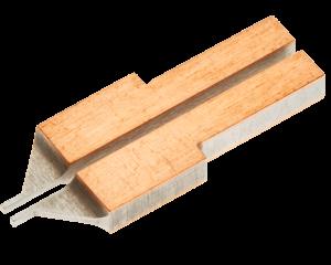 """EU2030M Unibond Electrode Set<br>1.125"""" Long<br> Copper Clad Molybdenum"""